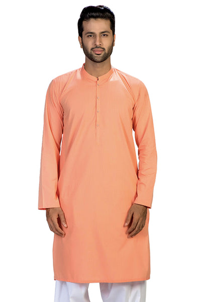 Orange Slim Fit Kurta -KP-959-SF