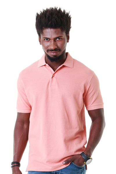 Pink Double Tuck Pique Polo Signature - PKP-267