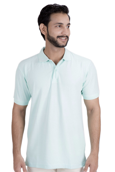 Double Tuck Pique Signature Polo Shirt - Mint - PKP-242