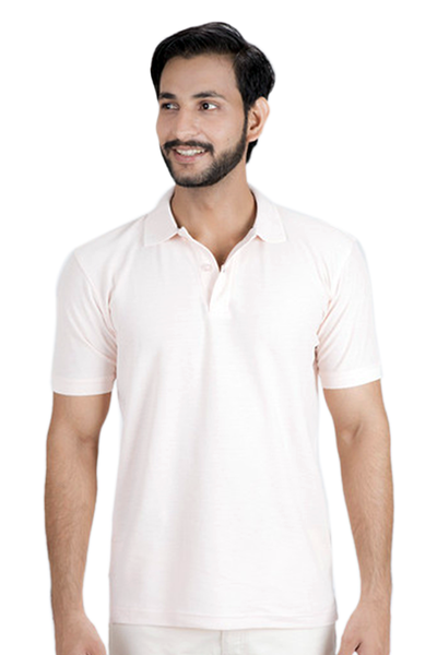 Double Tuck Pique Signature Polo Shirt - Pearl Pink - PKP-254