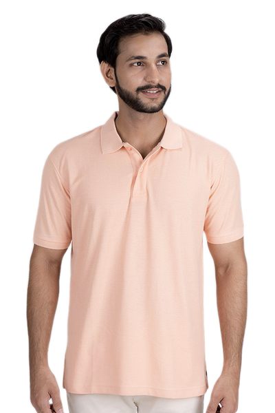 Double Tuck Pique Signature Polo Shirt - Carrot Orange - PKP-257