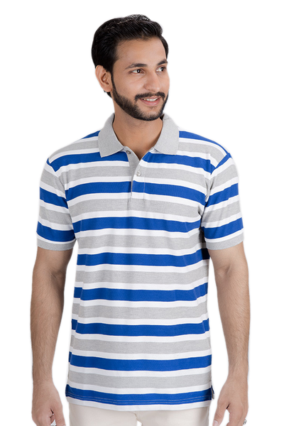 Yarn Dyed Polo Shirt - Navy, Grey, Creme - PKP-YD-D38-2