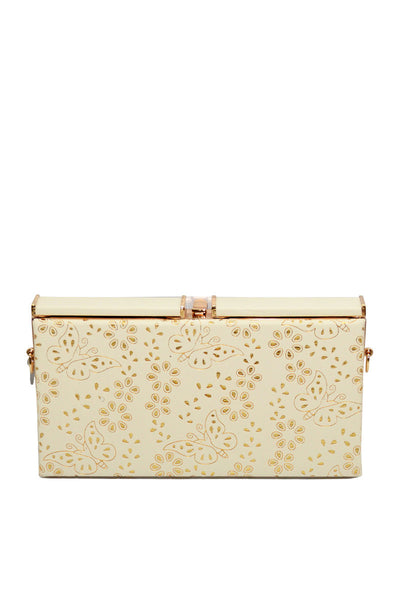 Off White Casual Clutch 8025-80