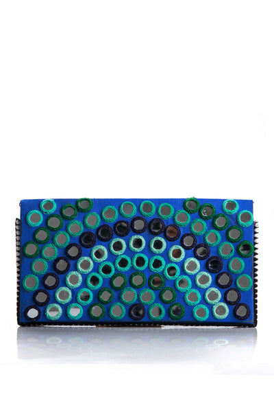 Hand Embroidery Mirror Work Formal Clutch - SBKB-78