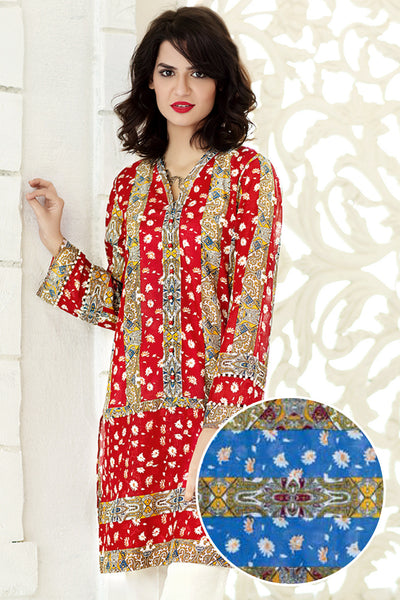 Blue 1 Pc Printed Lawn Single SL-123 B