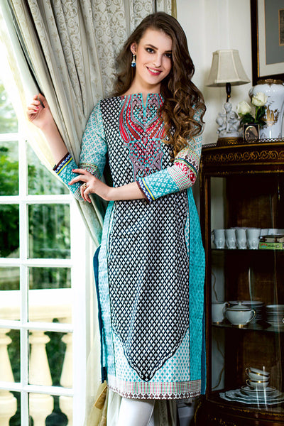 Black Embroidered Lawn SL-143 B