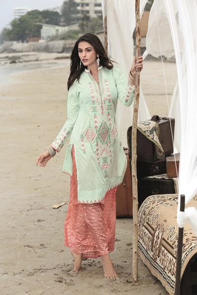 Sea Green Single Embroidered Collection SL-167