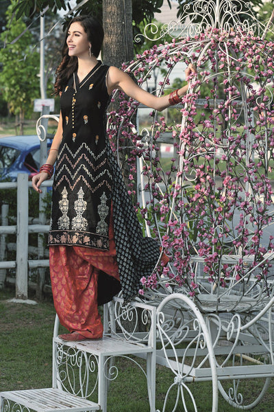Black Single Embroidered Collection SL-175