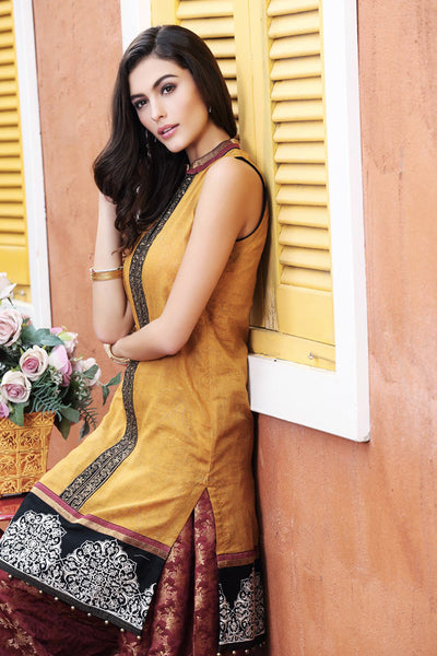Mustard Single Embroidered Collection SL-178