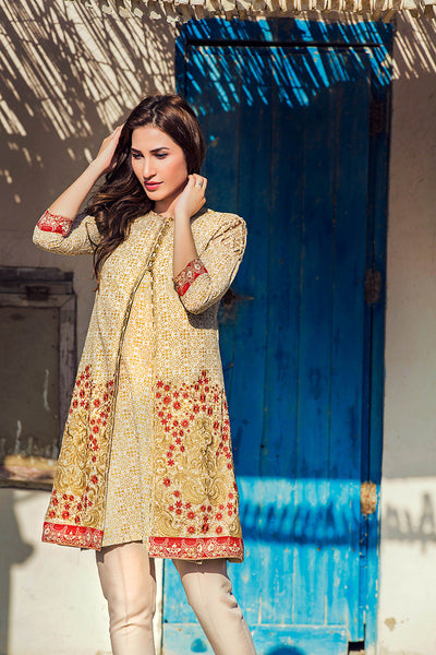Gold Embroidered Single Shirt SL-275