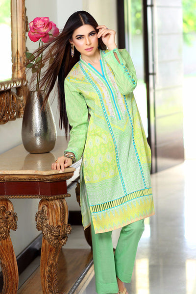 Green Printed Single Shirt SL-283