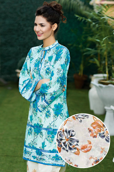 Beige 1 Pc Printed Lawn Single SL-326 B