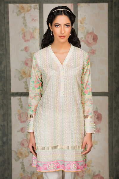 Cream 1 Pc Embroidered Lawn Single SL-335
