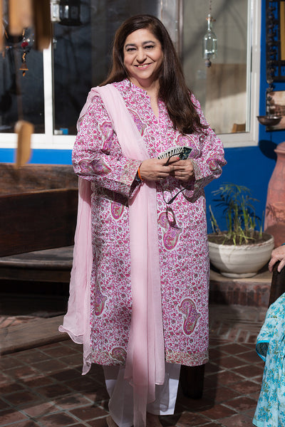 Pink 1 Pc Printed Lawn Single SL-364 A