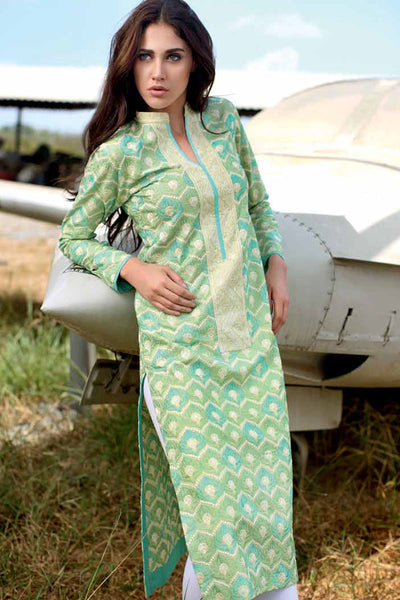 Green Embroidered Shirt SL-81 B
