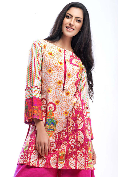 Pink Two Piece Khaddar TK-03 A