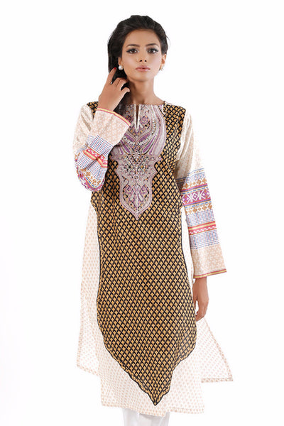 Brown Embroidered Single Shirt WGL-16-027 A
