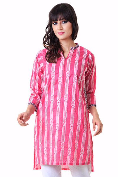 Pink Embroidered Shirt - WGS-31