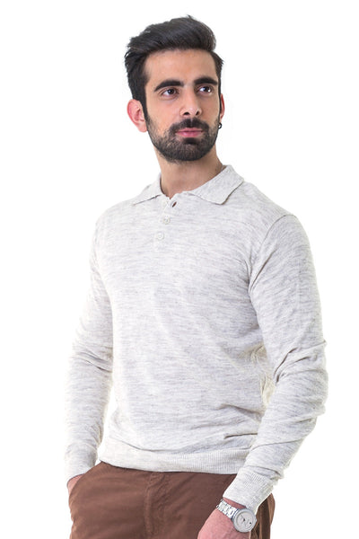 Heather Grey Full Sleeves Sweater - FS-SWT-F-D16-2