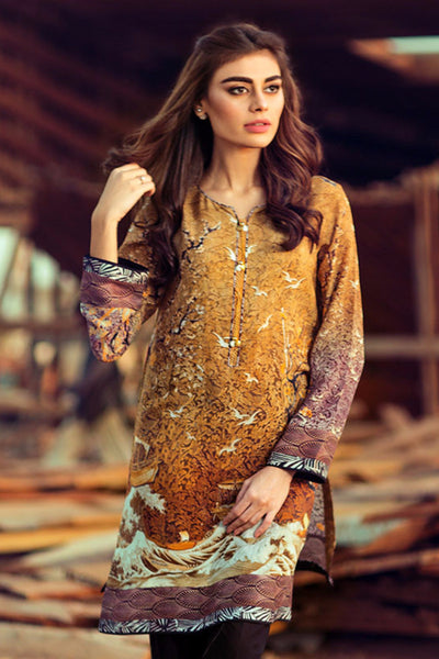 Brown G-Pret Silk Crepe Shirt - GLAMOUR-15-117