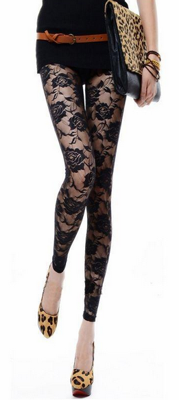 Women's Floral See-Through Leggings