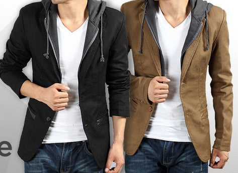 Men's Blazer Detachable Hood - 2 colors!
