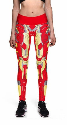 Women's Iron Man Leggings - Yoga High Waist