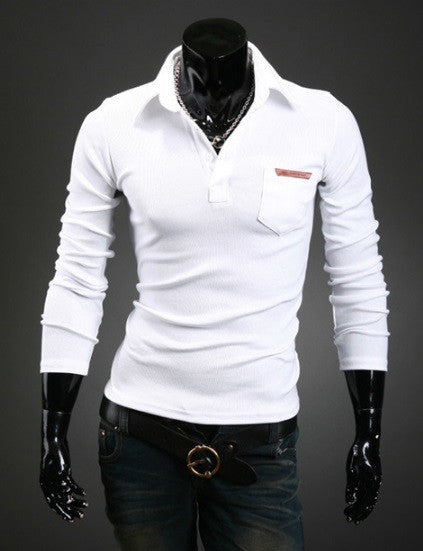 Men's Classy Long Sleeve Polo - 3 Colors!