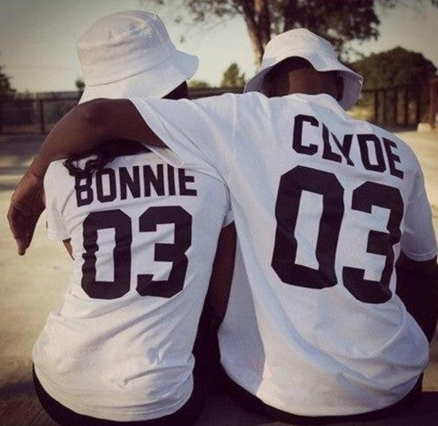 Bonnie & Clyde Couples Shirt - 2 Colors!