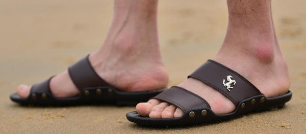 High Quality Men's Leather Sandals - 3 Colors - Hot100Fashions