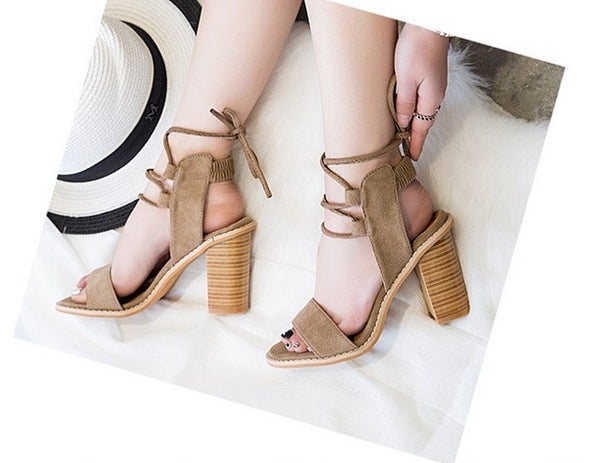 Women's High Heel Gladiator Sandals - 3 Colors!