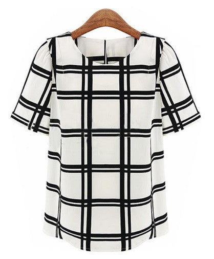 Women's Plaid  Blouse
