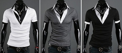 Mens Luxury Casual New Stylish Shirt V-neck with collar!