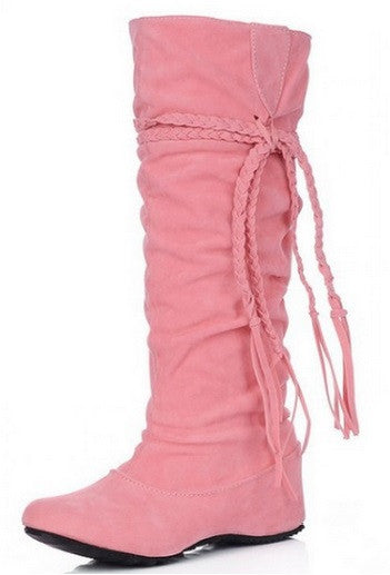 High Quality Women's Knee High Tassel Boots - Hot100Fashions