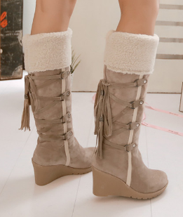 Women's Knee High Slip-Resistant Wedges - 3 Colors!