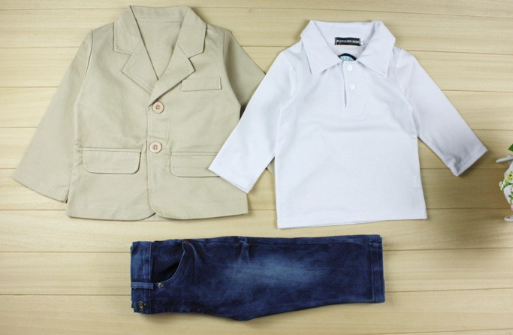 Boy's Suit + Shirt + Pants - Complete Outfit!