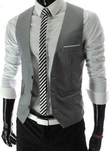 Men's Suit Vest - 2 Colors! - Hot100Fashions