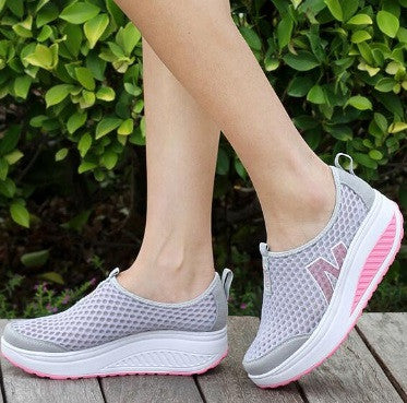 Women's Woven Height Increasing Breathable Sneakers