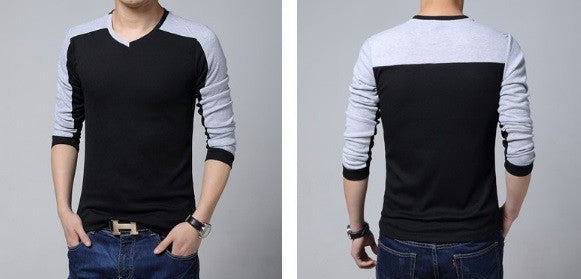 Men's Quality Long Sleeve V-Neck - 3 Colors!