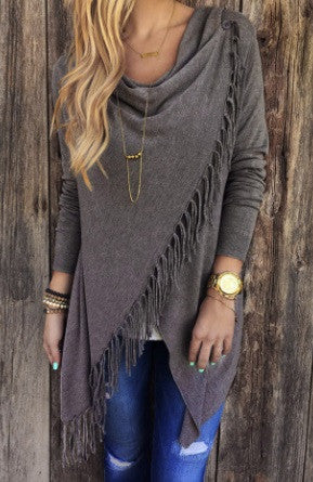 Women's Tassel Blouse - 4 Colors!