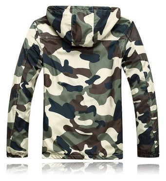 Men's Camouflage Hooded Jacket - 2 Colors!