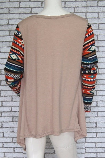 Women's Long Sleeve Tribal Blouse - 4 Colors!
