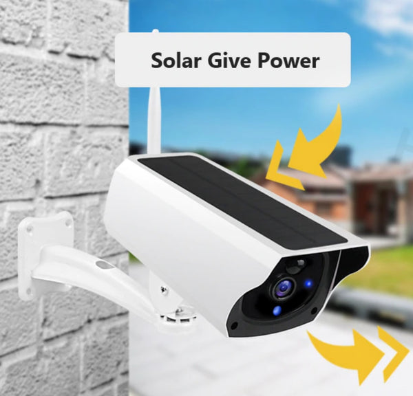 Wireless Solar Powered WiFi Security Camera - 5 Year Warranty!