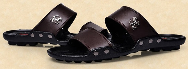 Men's High Quality Leather Sandals - 3 Colors!