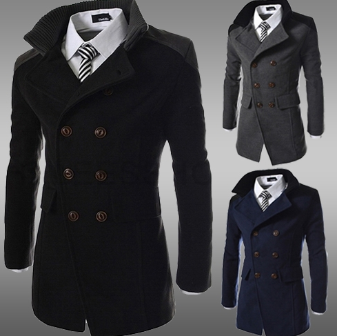 822ad31aa4 Men's Double Breasted Peacoat - 3 Colors! - Hot100Fashions