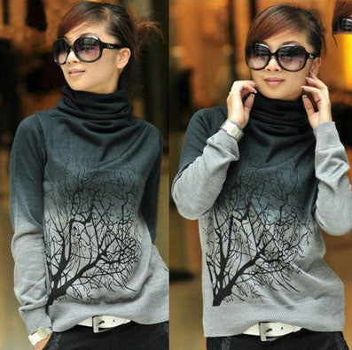 Women's Autumn Long Sleeve Tree Sweatshirt