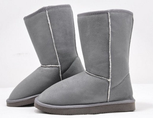 Women's Soft Leather Fashion Snow Boots