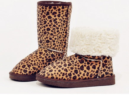 Leopard Snow Boots, CLEARANCE, SALE ITEM! - Hot100Fashions