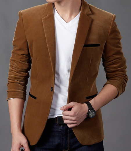 Men's CORDUROY Casual Blazer - 4 Colors! - Hot100Fashions