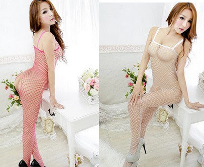 Women's Lace Fishnet Crotchless Bodystocking Lingerie